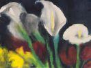 Emil Nolde - Weiße Calla über roten und gelben Blüten