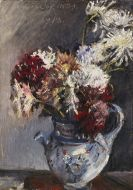 Lovis Corinth - Chrysanthemen im Krug