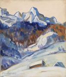 Gabriele Münter - Elmau im Winter