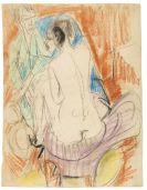 Ernst Ludwig Kirchner - Selbstporträt mit Gerda (Mann und Sitzende im Atelier)