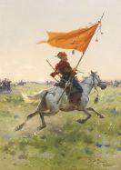 Brandt, Josef von - Standartenreiter auf dem Schlachtfeld