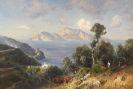 Ascan Lutteroth - Italienische Küstenlandschaft mit Blick auf Capri