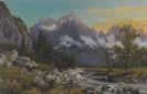 Rudolf Reschreiter - Morgenstimmung am großen Ahornboden (Karwendelgebirge)