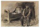 Liebermann, Max - Bauer an der Wiege - Der Witwer